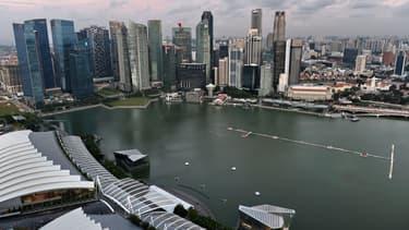 Le quartier financier de Singapour. 30% des expatriés dans la cité-Etat travail dans le secteur de la Finance.