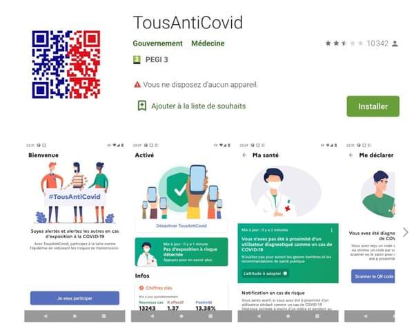 TousAntiCovid se veut plus interactive que StopCovid.