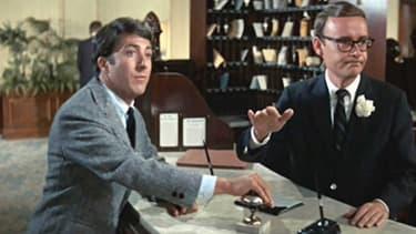 Le Lauréat avec Dustin Hoffman (à gauche) et Buck Henry (à droite)