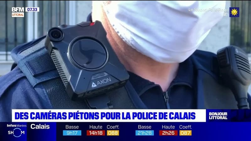 Calais: les policiers municipaux désormais équipés de caméras-piétons