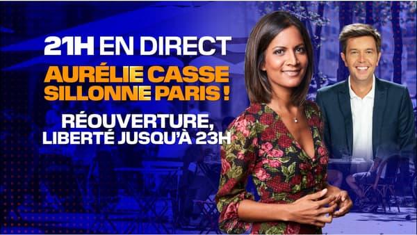 Aurélie Casse melakukan perjalanan melalui Paris untuk menandai fase baru pengurungan, pada 9 Juni 2021.