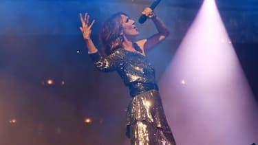 Céline Dion à Las Vegas durant un DJ Set de Steve Aoki