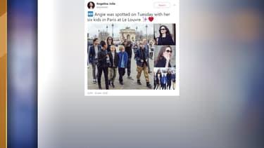 Angelina Jolie et ses 6 enfants en visite au Louvre