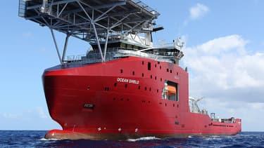 Le navire australien Ocean Shield, qui participe aux recherches du vol MH370.