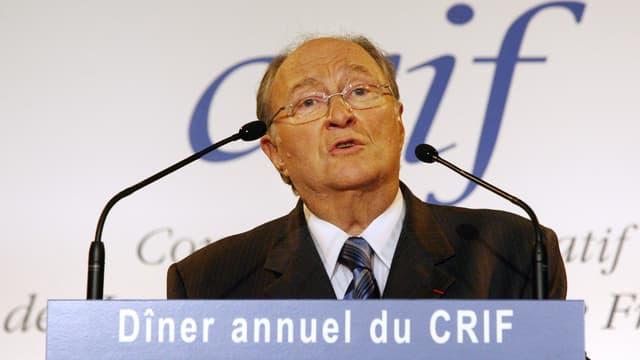 Roger Cukierman lors d'un précédent dîner du Crif, en 2007.
