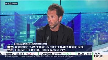 """""""Le Covid repart"""": Laurent Milchior, co-gérant du groupe Etam, dit """"regretter qu'il n'y ait pas eu d'annulation des soldes"""""""