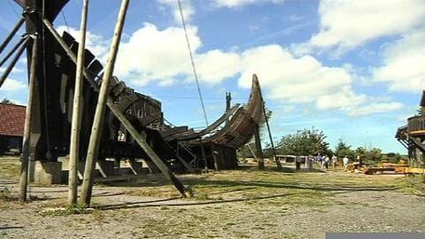 L'incroyable chantier pour la reconstruction d'un navire de Louis XIV