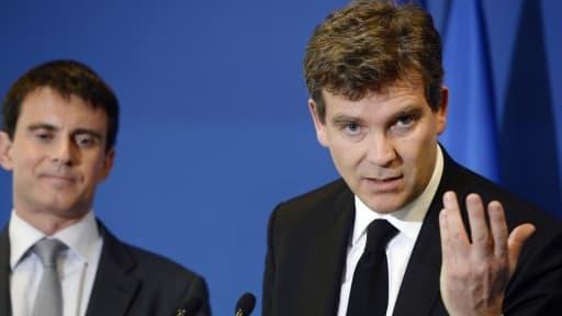 Arnaud Montebourg effectuait, en compagnie de Manuel Valls, une visite d'usine en Haute-Savoie.