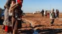 Des enfants dans un camp de déplacés dans la province de Deir-Ezzor, en Syrie.