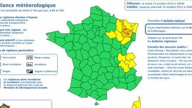 Météo France a placé la Meurthe-et-Moselle et les Vosges, ce mardi jusqu'à mercredi 16h00, en vigilance orange crue.