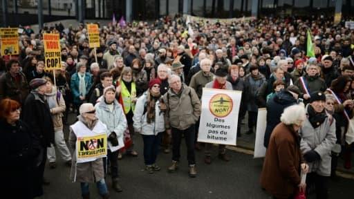 Manifestation contre le projet de l'aéroport de Notre-Dame-des-Landes, le 13 janvier 2016 à Nantes
