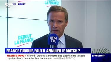 """France-Turquie: pour Nicolas Dupont-Aignan, """"ce match va être politique"""""""