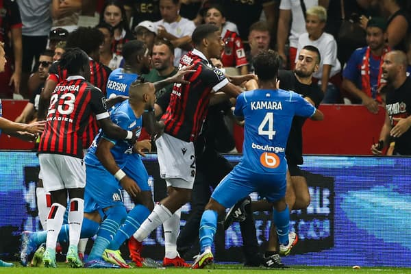 Les incidents durant Nice-OM