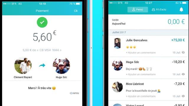 L'application permet d'effectuer un paiement immédiat à toute personne qui l'utilise aussi