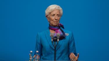 La directrice du Fonds monétaire international, Christine Lagarde, lors d'une conférence de presse en septembre 2016