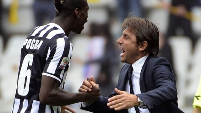 Paul Pogba et Antonio Conte