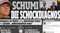 """""""Schumi :le diagnostic choc"""", titre le tabloïd allemand """"Bild"""" sur son site lundi midi."""