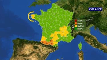 Quatre départements du Sud-Ouest sont placés en vigilance orange, le 20 octobre 2020.
