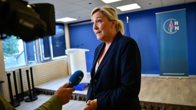 La présidente du RN Marine Le Pen, le 28 juin 2020 à Nanterre
