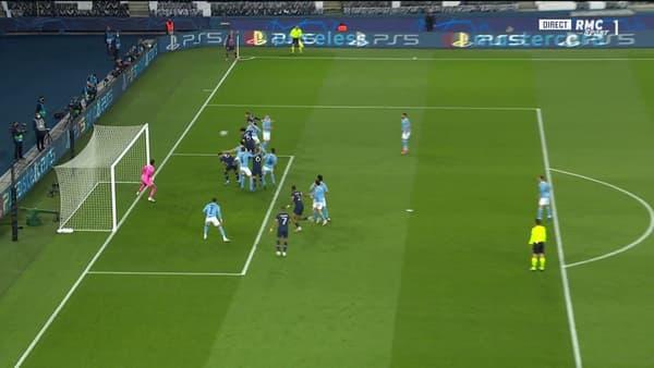 Le but de la tête de Marquinhos lors de PSG-City