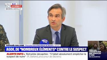 """Retraitée décapitée à Agde: le procureur de Béziers évoque """"d'importants troubles de la mémoire"""" chez le suspect"""