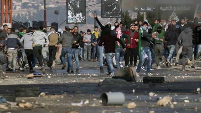 Des heurts ont éclaté vendredi dans la bande de Gaza.