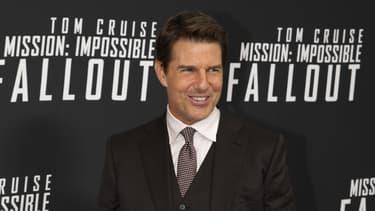 """Tom Cruise en promotion pour """"Mission Impossible: Fallout"""", le 22 juillet 2018 à Washington"""