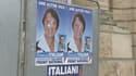 Des affiches de campagne de Florence Italiani, candidate FN dans l'Oise.