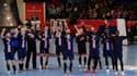 Les joueurs du PSG Handball lors du dernier match de la saison, le 8 mars dernier