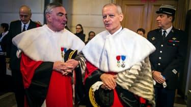 Bertrand Louvel, le président de la Cour de cassation, et Jean-Claude Marin, le procureur général.