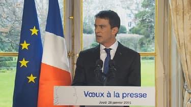 """""""Je veux saluer ici l'opiniâtreté et le parcours de Christiane Taubira"""", a déclaré Manuel Valls."""