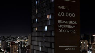 Projection sur un immeuble de Belo Horizonte.