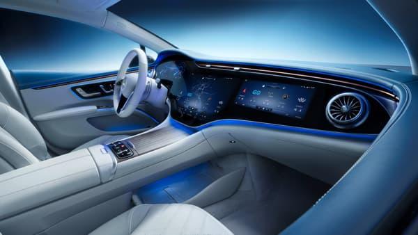 L'intérieur de la Mercedes EQS