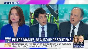 """Sondage Elabe: 72% des Français soutiennent toujours les """"gilets jaunes"""""""