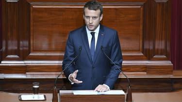 Emmanuel Macron au Congrès de Versailles le 3 juillet 2017.