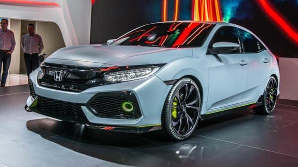 """Ce modèle """"Hatchback"""" préfigure de la future Civic et de son éventuelle version Type-R."""