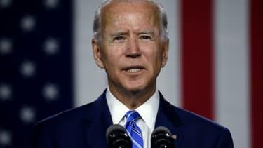 Le candidat démocrate à la présidentielle Joe Biden, le 14 juillet 2020 à Wilmington, dans le Delaware