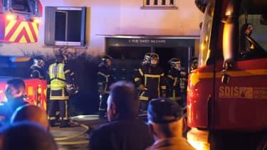 L'incendie a fait au moins 5 morts et 8 blessés