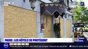 Un hôtel barricadé à Paris