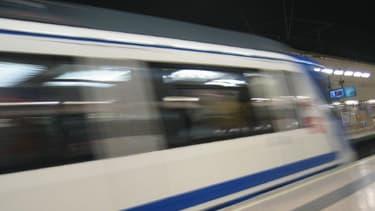 Une rame du métro de Madrid