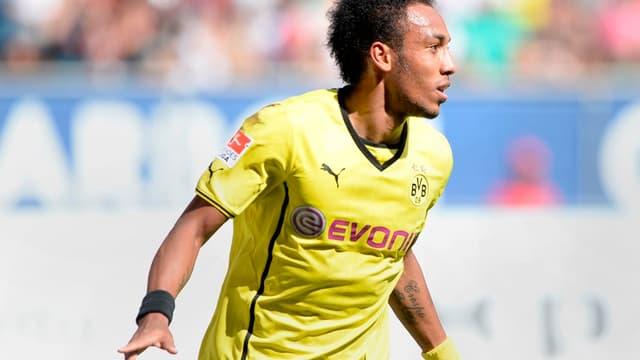 Pierre-Emerick Aubameyang a marqué un triplé avec le Borussia Dortmund