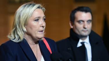 Marine Le Pen et Florian Philippot le 15 novembre 2015.