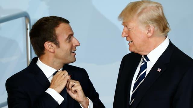 Emmanuel Macron et Donald Trump, au G20 à Hambourg.