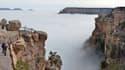 Le Grand Canyon s'est montré sous un nouveau jour, remplit de nuages, le jeudi 11 décembre 2014.
