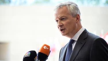 Le ministre français des Finances, Bruno Le Maire, lors de l'Eurogroupe du 13 juin 2019.