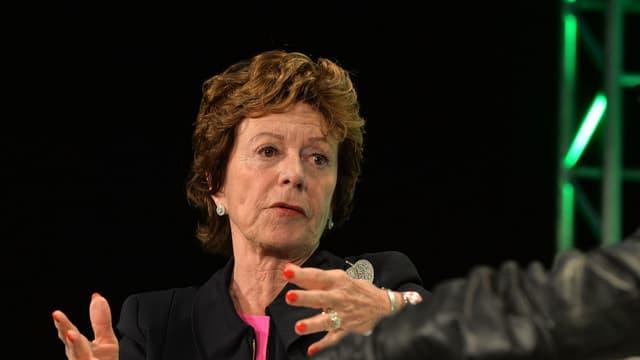 La néerlandaise Neelie Kroes a été ministre et député aux Pays-Bas puis responsable de la concurrence dans la  première commission Barroso, puis commissaire européenne chargée de la société numérique de 2010 à 2014.
