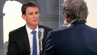 Manuel Valls face à Jean-Jacques Bourdin