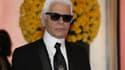 Karl Lagerfeld au bal de la rose à Monaco, en mars dernier.
