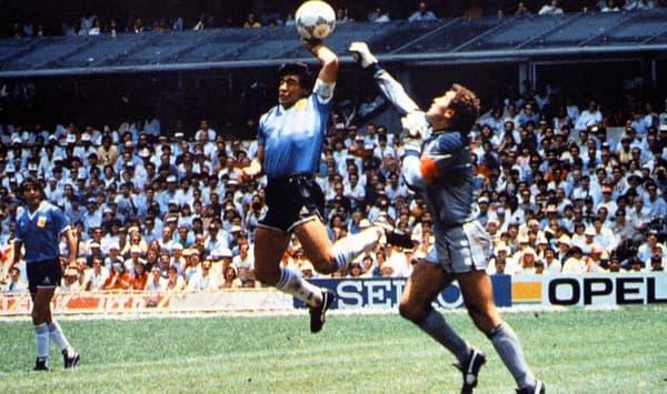 "Diego Maradona et la ""main de Dieu"""
