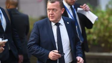 Le Premier ministre danois Lars Lokke Rasmussen à son arrivée le 17 décembre 2015 au Conseil européen à Bruxelles